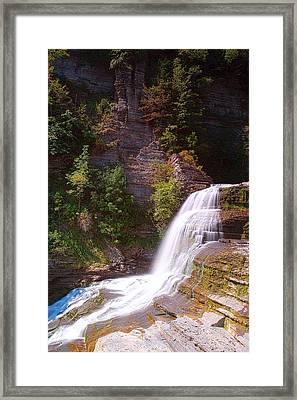 Lucifer Falls II In Robert H. Treman State Park New York Framed Print
