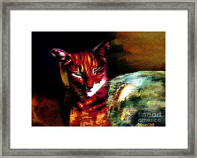 Lucifer Sam Tiger Cat Framed Print