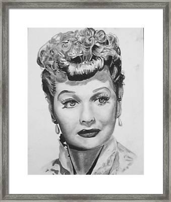 Lucille Ball Framed Print by Aaron Balderas
