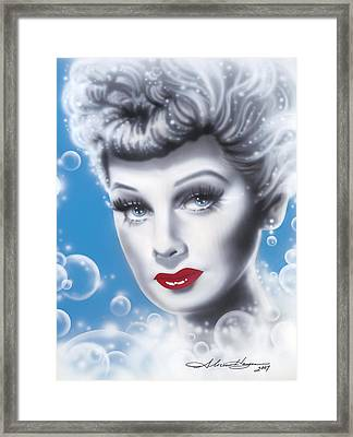 Lucille Ball Framed Print by Alicia Hayes