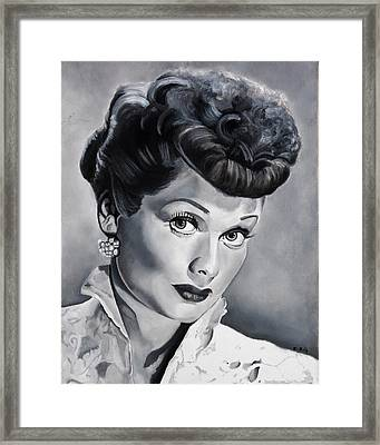 Lucille Ball Framed Print by Brian Broadway