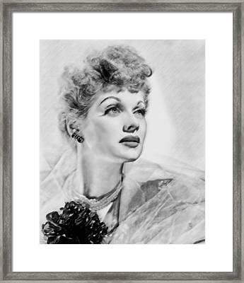 Lucille Ball Framed Print by  Fli Art
