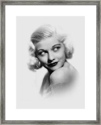 Lucille Ball Pencil  Framed Print by Steve K