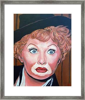 Lucille Ball Framed Print by Tom Roderick