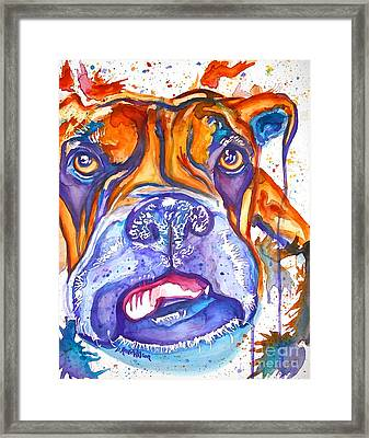 Lucille Boxer Blues  Framed Print by D Renee Wilson