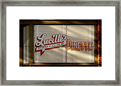 Lucille's Dinette Framed Print by Bud Simpson