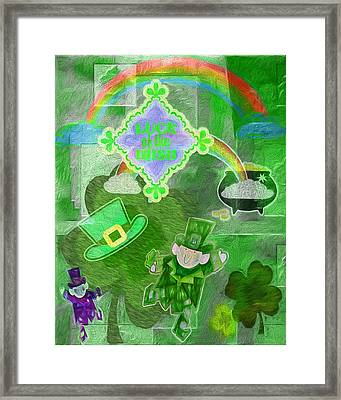 Luck Of The Irish - Painterly Collage Framed Print