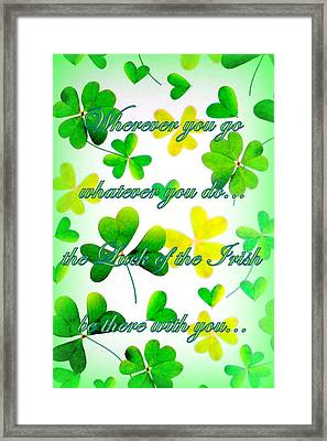 Luck Of The Irish Framed Print by The Creative Minds Art and Photography
