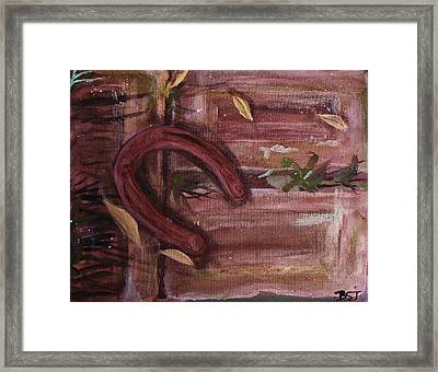 Luck Shoe Framed Print by Barbara St Jean