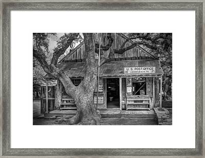 Luckenbach 2 Black And White Framed Print by Scott Norris