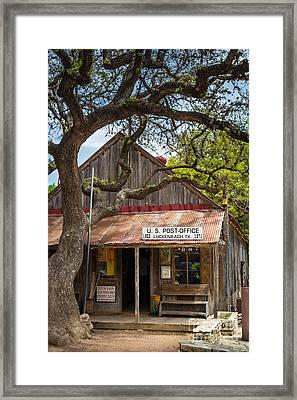 Luckenbach Post Office Framed Print