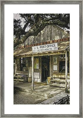 Luckenbach Framed Print by Scott Norris