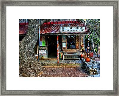 Luckenbach Texas Framed Print