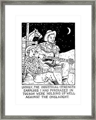 Luckily, The Industrial-strength Earplugs Framed Print
