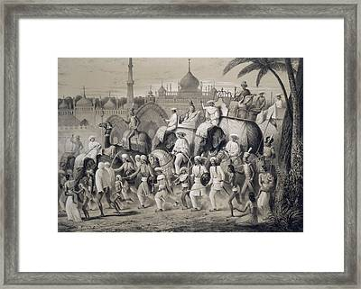 Lucknow, The Principal Street Framed Print by A Soltykoff