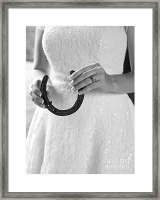 Lucky Bride Framed Print by Suzi Nelson