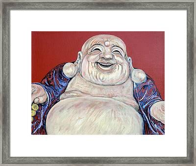 Lucky Buddha Framed Print by Tom Roderick