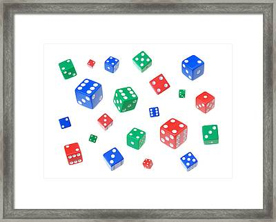 Lucky Dice Framed Print by Jim Hughes