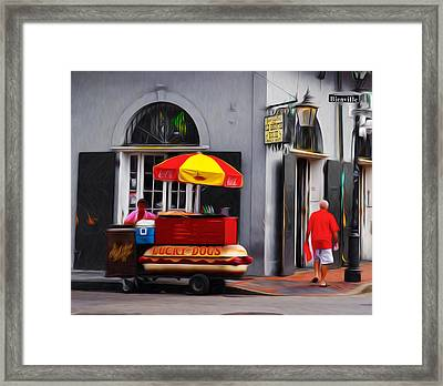 Lucky Dogs - New Orleans Framed Print