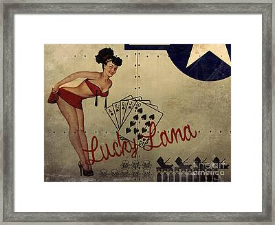 Lucky Lana Noseart Framed Print by Cinema Photography