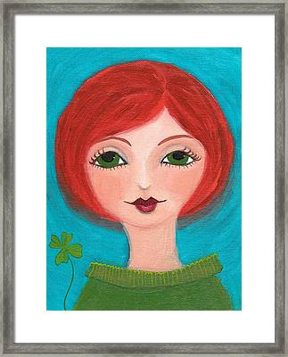 Framed Print featuring the painting Lucky by Lisa Noneman