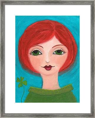 Lucky Framed Print by Lisa Noneman