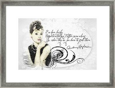 Lucky Framed Print by Mo T