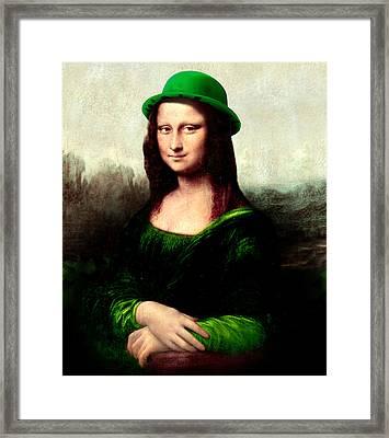 Lucky Mona Lisa Framed Print
