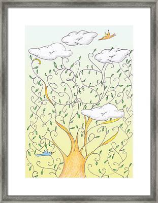 Lucky Number 38 Tree Framed Print by Birgitta Serine Kvelland