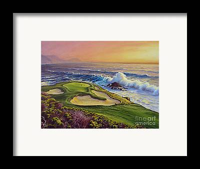 pebble beach golf course framed prints