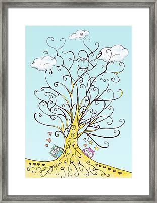 Lucky Number 78 Tree Framed Print by Birgitta Serine Kvelland