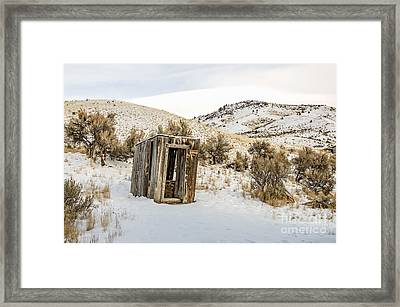 Lucky Outhouse Framed Print by Sue Smith