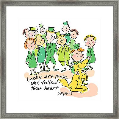 Lucky Framed Print by Sally Huss