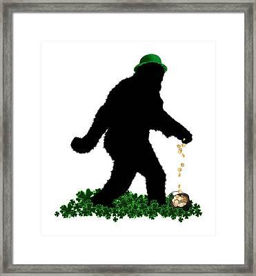 Lucky Sasquatch Framed Print by Gravityx9  Designs