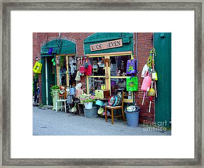 Lucky Seven Framed Print by Kevin Fortier