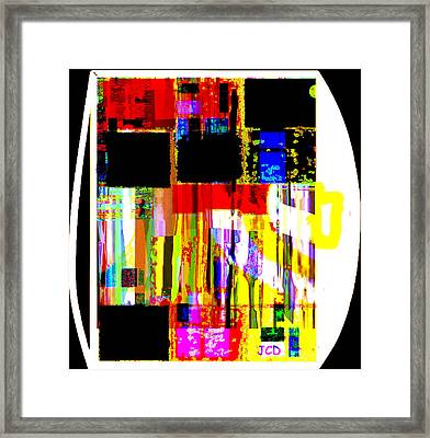 Lucky Shapes Framed Print by Jean-Claude Delhaise