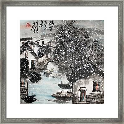 Lucky Snow  Framed Print