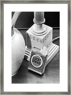 Lucky Strike Cigarettes Pack Framed Print by Underwood Archives