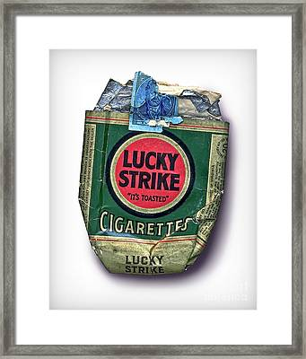 1940's Lucky Strike Green Framed Print