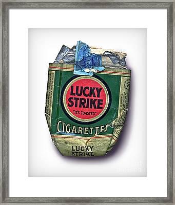 1940's Lucky Strike Green Framed Print by Walt Foegelle