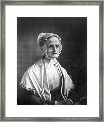 Lucretia Coffin Mott(1793-1880) Framed Print by Granger