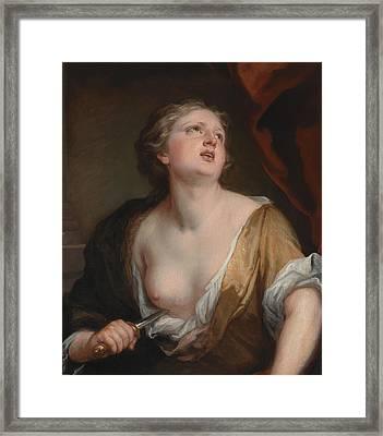 Lucretia Framed Print by Godfrey Kneller