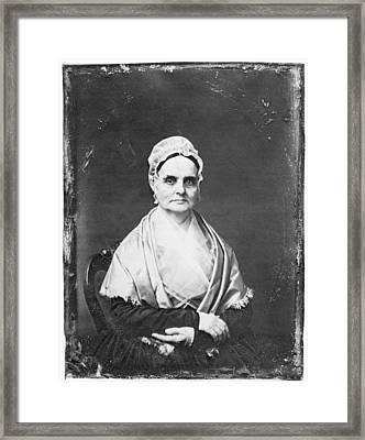 Lucretia Mott (1793-1880) Framed Print