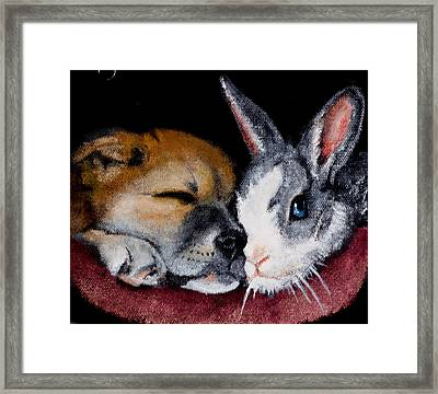 Lucy And Oliver Framed Print