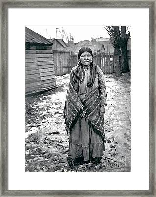 Lucy From The Yakama Tribe 1912 Framed Print