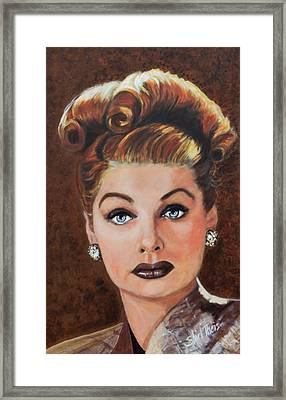 Lucille Ball Framed Print by Shirl Theis