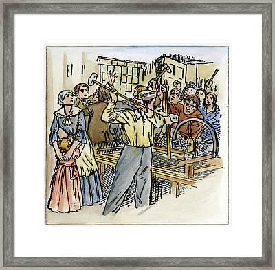 Luddites, 1811 Framed Print by Granger