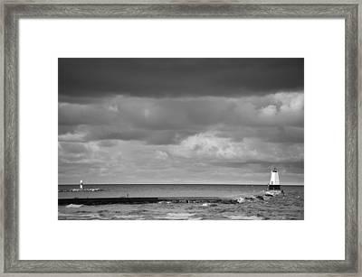Ludington Black And White Framed Print