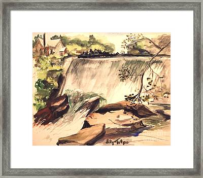 Ludington Michigan Spillway Framed Print