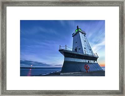 Ludington North Breakwater Lighthouse Framed Print